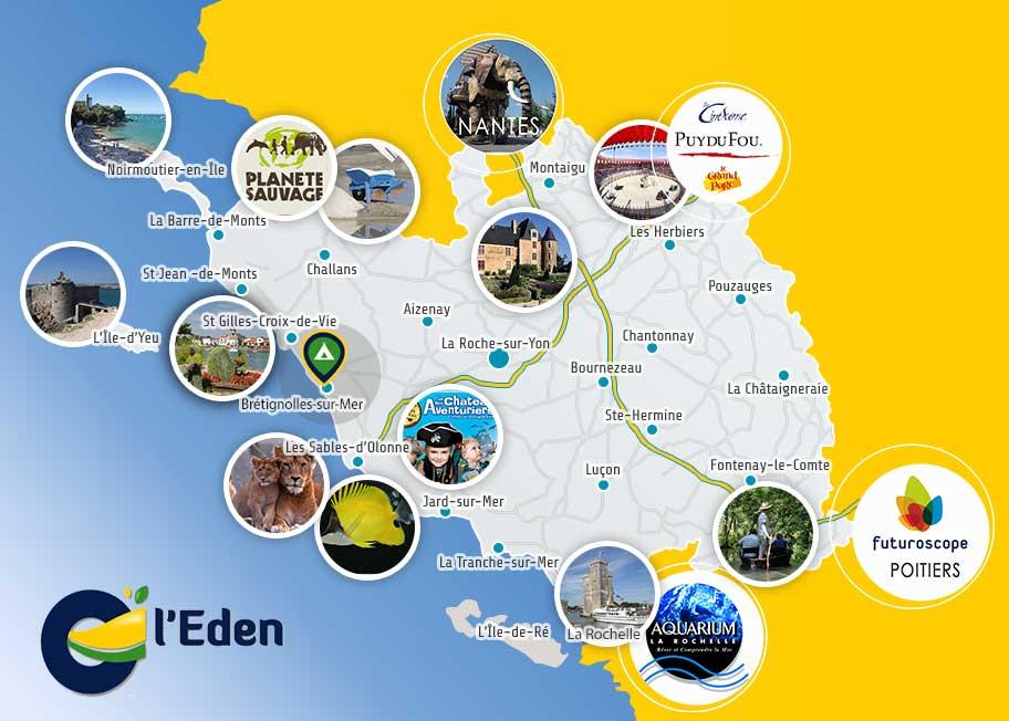 carte de la Vendée Touristique