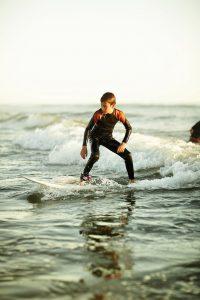 Surfeur Plage des Dunes à Brétignolles sur mer Destination surf